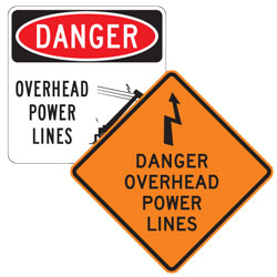 Overhead & Underground Electrical Hazard Signs
