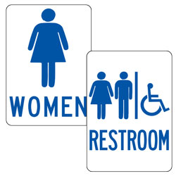 Restroom Facility Signs