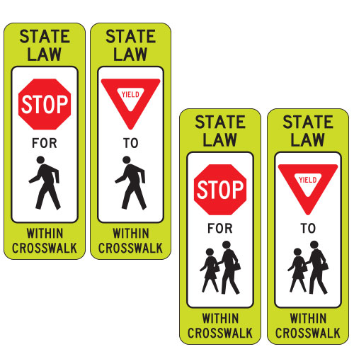 <strong>R1-6 Series</strong> Regulatory Signs for School Areas