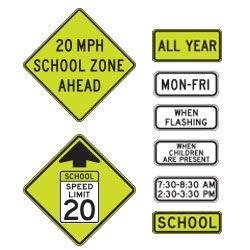 <strong>S4 Series</strong> Warning Signs & Supplemental Plaques for School Areas