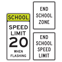 <strong>S5 Series</strong> Regulatory Signs for School Areas