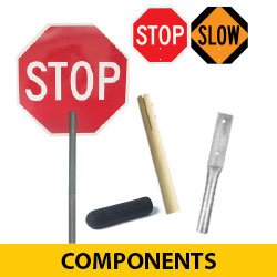STOP/SLOW Hand Paddle Components