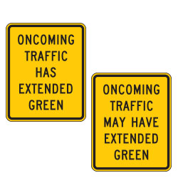 <strong>W25 Series</strong> Oncoming Traffic Warning Signs