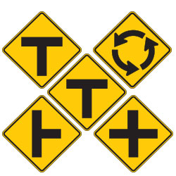 <strong>W2 Series</strong> Intersection Warning Signs