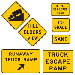 <strong>W7 Series</strong> Truck and Hill Warning Signs