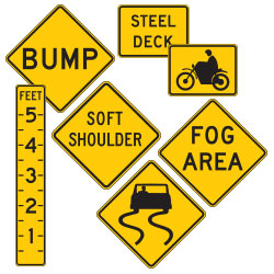 <strong>W8 Series</strong> Roadway Conditions Warning Signs