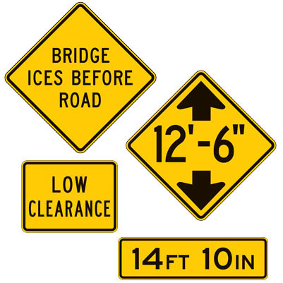 Warning: Bridge Signs and Plaques