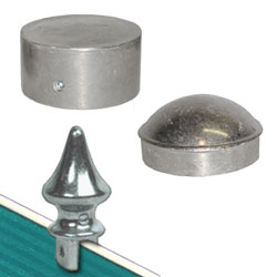Silver Caps & Finials for Round Posts