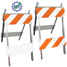 Type I and II Combocade Barricades (Steel Legs & Plastic Boards)