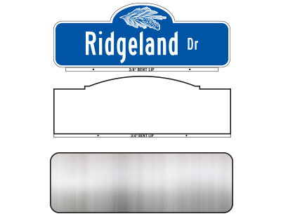 Street Name Finished Signs & Blanks