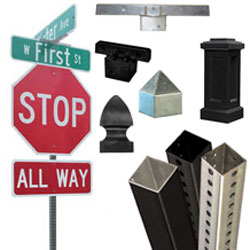Square Posts, Brackets, Hardware & Breakaway Systems