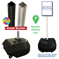 GP6 Portable Rock It Sign Stand Base & Post Packages