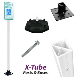 X-Tube Flexible Sign Post Packages & Components