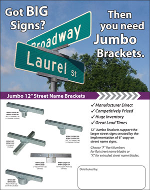 Jumbo Brackets for Big Signs
