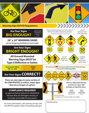 MUTCD Regulations Warnings Signs