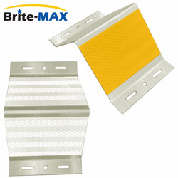 Brite Max A Style BMGA025 (Aluminum) Barrier or Guardrail Post Mount Delineator