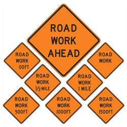 Road Work | Work Zone Signs (Choose Distance)