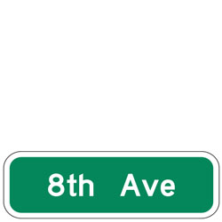 Street Name Signs for Bicycle Facilities