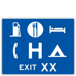 General Services (Symbols) Exit (XX) Guide Signs