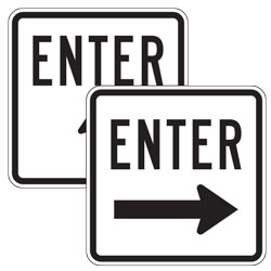 Enter with Up/Left/Right Arrow Signs
