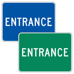 Entrance Signs (Blue/Green)