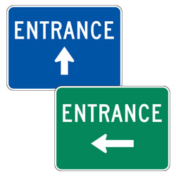 "Entrance with Up/Left/Right Arrow Signs (24"" x 18"")"