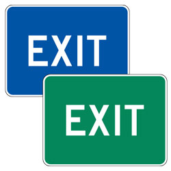 Exit Signs (Blue/Green)
