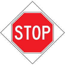 Compact Wrap & Roll Stop Signs with Ribs