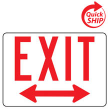 Exit with Double Arrow Facility Sign