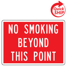 No Smoking Beyond This Point Facility Sign