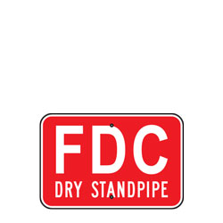 FDC Dry Standpipe (Fire Department Connection) Sign