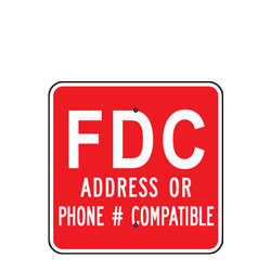 FDC (Address Or Phone # Compatible) (Fire Department Connection) Sign