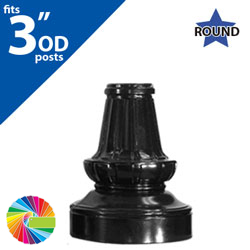 Semi Gloss Powder Painted SB 93 Base (16 Tall) for 3 OD Round Posts