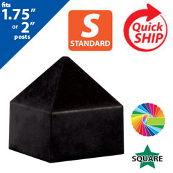 "Semi Gloss Powder Painted Pyramid Cap for 1.75"" or 2"" Square Post"