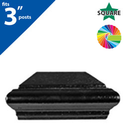 "Semi Gloss Powder Painted FINQ C3 Post Cap for 3"" Square Post"