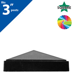 "Semi Gloss Powder Painted FINQ E3 Post Cap for 3"" Square Post"