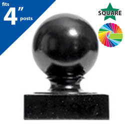 "Semi Gloss Powder Painted FINQ B4 Post Cap for 4"" Square Post"