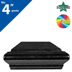 "Semi Gloss Powder Painted FINQ C4 Post Cap for 4"" Square Post"