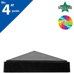 "Semi Gloss Powder Painted FINQ E4 Post Cap for 4"" Square Post"