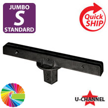 "Semi Gloss Powder Painted 12"" Jumbo Bracket: 180 Degrees for U Channel Posts"