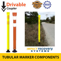 Premium Tubular Markers with Coupler for Drivable Base