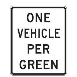 XX Vehicle Per Green Sign