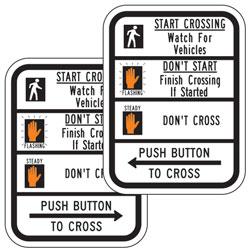 R10 3B Crosswalk Message Signs