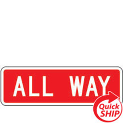 All Way Traffic Sign Plaque