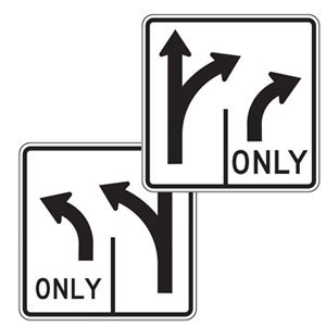 Double Turn Left/Right Sign