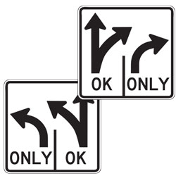 Double Turn Left/Right OK Sign