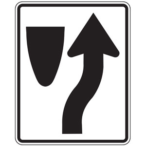 Keep Right (Symbol) Sign
