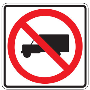 No Trucks (Symbol) Sign