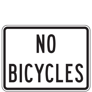 No Bicycles Plaques
