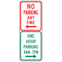 No Parking | Restricted Parking Combination Signs (Vertical Option)